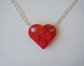 Necklace red lego heart ♥ ♥