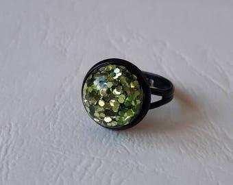 Ring glitter ball ♥ ♥ Green
