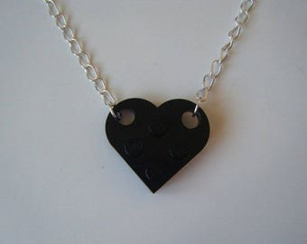 Black ♥ ♥ lego Heart Necklace