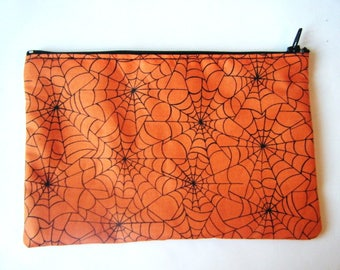 ♥ ♥ spiderweb zipped Pocket orange ♥