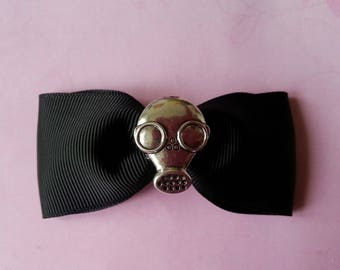 ♥ gas mask and black hair bow ♥