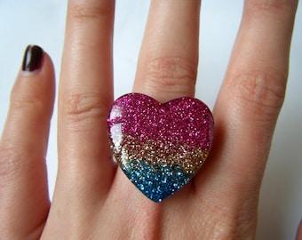 Ring - Rainbow heart