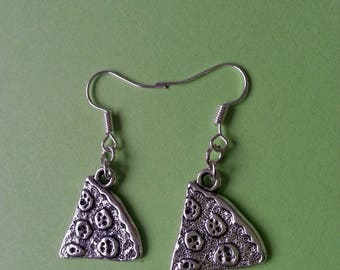 Share ♥ silver pizza earrings ♥