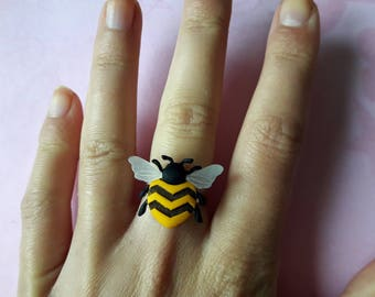 Ring - Bee yellow and black