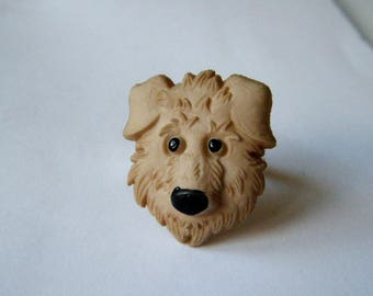 Dog's head ring ♥♥♥♥ Labrit beige ♥ ♥