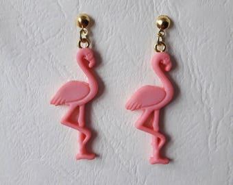 Earrings ♥ ♥ pink Flamingo Pink ♥