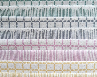 Pick Your Own Bundle of 8 - screen printed fabric, hand screen printed fabric for patchwork, sewing, embroidery and crafting by Lu Summers