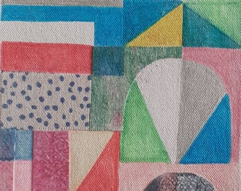 Speckles, Original collage art, wall art, wall decor, art by Lucie Summers