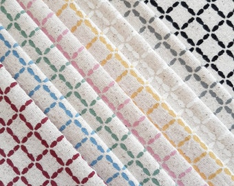 Mini Mesh fabric bundle - screen printed fabric, hand screen printed fabric for patchwork, sewing, embroidery and crafting by Lucie Summers