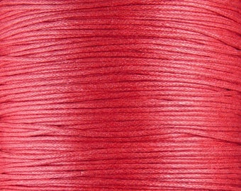 Cotton Wax Cord Red 1.5mm thick Spool (1012cor02m1-4)
