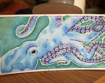 Blue Octopus - Original Art
