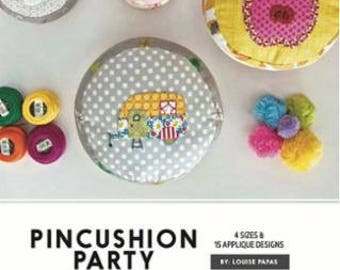 Pincushion Party Pattern Jen Kingwell Designs Collective, 4 Sizes and 15 Appliqué Designs, Louise Papas