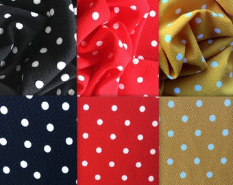 7e8b7d98ba6 Bullet Textured Polka Dot Liverpool Poly/Lycra/Spandex Stretch Knit Fabric  By The Yard
