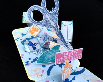 30th Birthday Pop Up Card Crafty Friend Anniversary For Mom Bestie 40th Gift