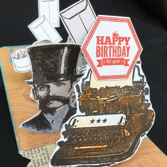 Wenskaarten Briefpapier 50TH BIRTHDAY 3D POP UP CARD NEW GIFT