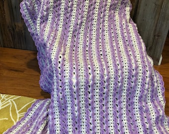 Hand Crocheted Multi-Colored Afghan