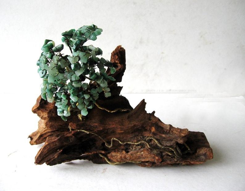 Fine Jade Bonsai Tree On Driftwood Handmade Wire Sculpture Etsy Wiring 101 Photwellnesstrialsorg