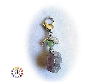 Fluorite rough healing crystal pet amulet - Arthritis natural treatment for pets