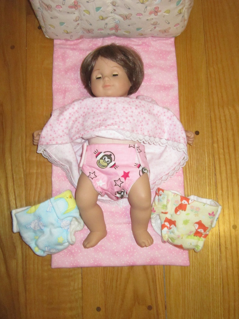 5cf0e3f35 15 inch Doll Diapers fits the American Girl Bitty Baby Dolls