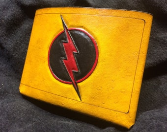 Leather reverse Flash Wallet
