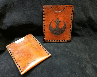 Leather Starwars Rebels Insignia card case