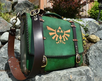 Leather Zelda Messenger bag - satchel - briefcase - laptop bag