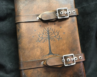 Old stock - Leather Lord of The rings Tree of Gondor journal - day planner - book cover