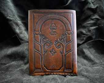 Leather Gate Of Moria Lord of the rings passport wallet cover