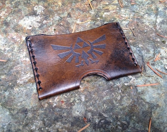 Leather Zelda card case