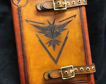 Leather Pokémon  journal - day planner - book cover