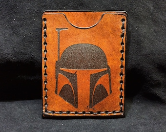 Leather Starwars Boba fett card case