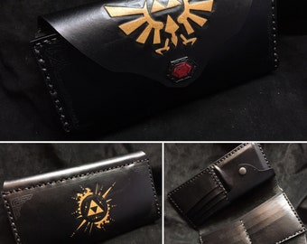 Womens Leather Zelda Triforce Hyrule Wallet