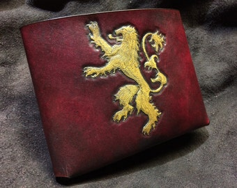 Leather Game of Thrones Lannister wallet  Game of Thrones