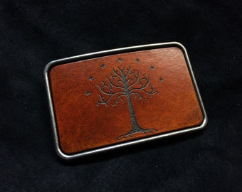 Tree of Gondor LOTR belt buckle