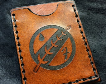 Boba fett leather mandalorian card case