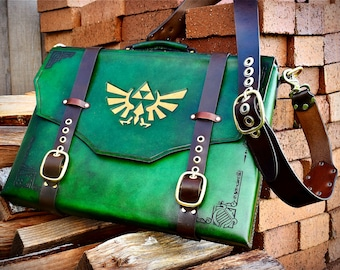 Leather Zelda Laptop bag - satchel - briefcase - messenger bag