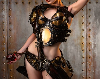 Reserved - Steampunk leather armour for cosplay  - Steampunk General - Captain - Warrior- Assassin