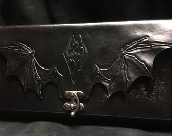 Leather Skyrim Nintendo Switch carrying case
