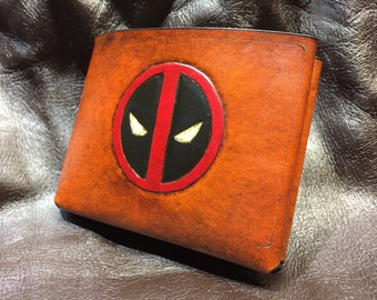 Leather Deadpool logo Wallet