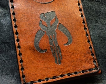 Boba fett leather Mythosaur card case