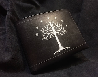 Black Leather Lord of the rings wallet White Tree of Gondor