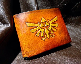 Leather Zelda Triforce Hyrule Wallet