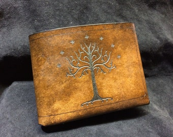Leather Lord of the rings wallet White Tree of Gondor
