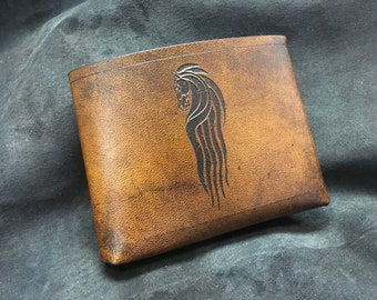Leather Lord of the rings Rohan wallet