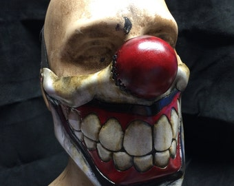 Leather clown mask