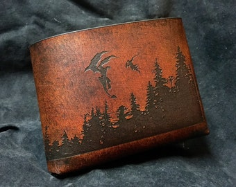 Leather skyrim brotherhood wallet