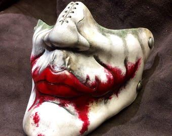 Leather Joker mask inspired by Heath Ledgers Joker