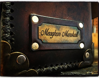 Personalized Leather Name plate