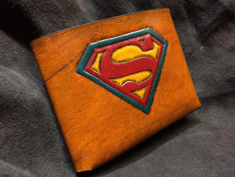 Leather Superman Wallet image 1