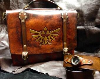 Handmade Leather Zelda Messenger bag - satchel - briefcase - laptop bag